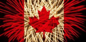 Artificii ziua Canada