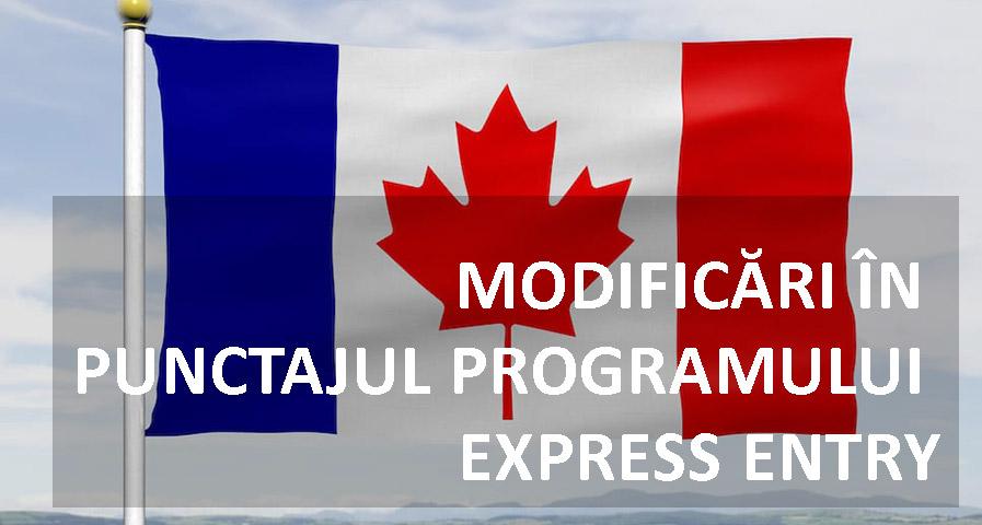 Modificari punctaj emigrare Canada Express Entry